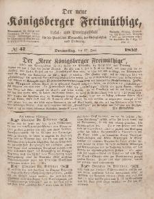 Der neue Königsberger Freimüthige, Nr. 47 Donnerstag, 17 Juni 1852
