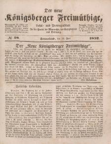 Der neue Königsberger Freimüthige, Nr. 48 Sonnabend, 19 Juni 1852
