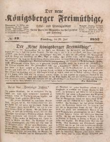 Der neue Königsberger Freimüthige, Nr. 49 Dienstag, 22 Juni 1852