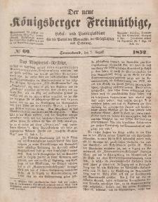 Der neue Königsberger Freimüthige, Nr. 69 Sonnabend, 7 August 1852