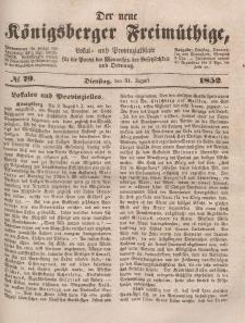 Der neue Königsberger Freimüthige, Nr. 79 Dienstag, 31 August 1852