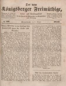Der neue Königsberger Freimüthige, Nr. 96 Sonnabend, 9 Oktober 1852