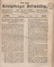 Der neue Königsberger Freimüthige, Nr. 103 Dienstag, 26 Oktober 1852