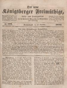 Der neue Königsberger Freimüthige, Nr. 126 Sonnabend, 18 Dezember 1852