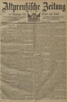 Altpreussische Zeitung, Nr. 10 Dienstag 13 Januar 1891, 43. Jahrgang