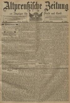 Altpreussische Zeitung, Nr. 24 Donnerstag 29 Januar 1891, 43. Jahrgang