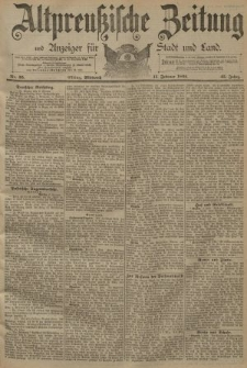Altpreussische Zeitung, Nr. 35 Mittwoch 11 Februar 1891, 43. Jahrgang