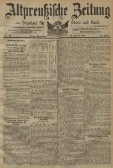 Altpreussische Zeitung, Nr. 48 Donnerstag 26 Februar 1891, 43. Jahrgang