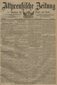 Altpreussische Zeitung, Nr. 59 Mittwoch 11 März 1891, 43. Jahrgang