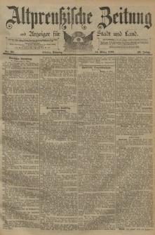 Altpreussische Zeitung, Nr. 63 Sonntag 15 März 1891, 43. Jahrgang