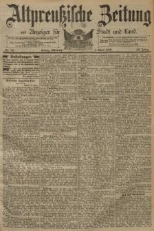 Altpreussische Zeitung, Nr. 75 Mittwoch 1 April 1891, 43. Jahrgang