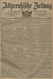 Altpreussische Zeitung, Nr. 86 Dienstag 14 April 1891, 43. Jahrgang