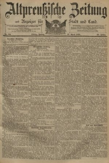 Altpreussische Zeitung, Nr. 89 Freitag 17 April 1891, 43. Jahrgang