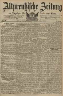 Altpreussische Zeitung, Nr. 125 Dienstag 2 Juni 1891, 43. Jahrgang