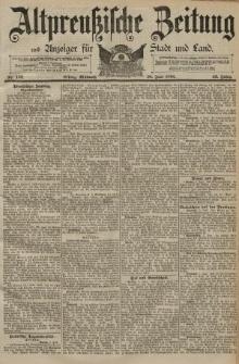 Altpreussische Zeitung, Nr. 132 Mittwoch 10 Juni 1891, 43. Jahrgang