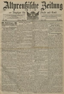 Altpreussische Zeitung, Nr. 156 Mittwoch 8 Juli 1891, 43. Jahrgang