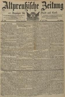 Altpreussische Zeitung, Nr. 163 Donnerstag 16 Juli 1891, 43. Jahrgang