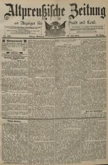 Altpreussische Zeitung, Nr. 168 Mittwoch 22 Juli 1891, 43. Jahrgang