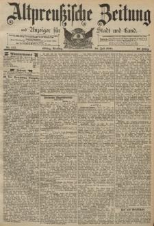 Altpreussische Zeitung, Nr. 173 Dienstag 28 Juli 1891, 43. Jahrgang