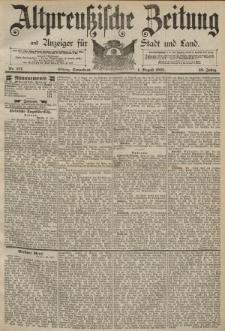 Altpreussische Zeitung, Nr. 177 Sonnabend 1 August 1891, 43. Jahrgang