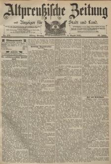 Altpreussische Zeitung, Nr. 179 Dienstag 4 August 1891, 43. Jahrgang