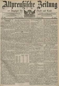 Altpreussische Zeitung, Nr. 181 Donnerstag 6 August 1891, 43. Jahrgang