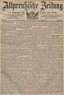 Altpreussische Zeitung, Nr. 183 Sonnabend 8 August 1891, 43. Jahrgang
