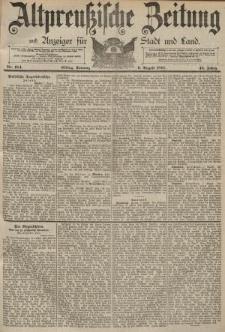 Altpreussische Zeitung, Nr. 184 Sonntag 9 August 1891, 43. Jahrgang