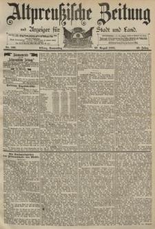 Altpreussische Zeitung, Nr. 199 Donnerstag 27 August 1891, 43. Jahrgang