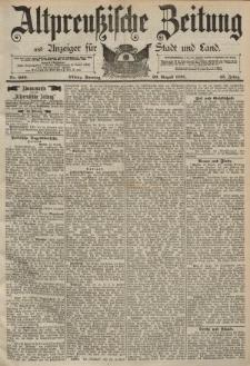 Altpreussische Zeitung, Nr. 202 Sonntag 30 August 1891, 43. Jahrgang