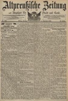 Altpreussische Zeitung, Nr. 203 Dienstag 1 September 1891, 43. Jahrgang