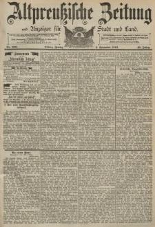 Altpreussische Zeitung, Nr. 206 Freitag 4 September 1891, 43. Jahrgang