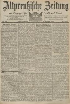 Altpreussische Zeitung, Nr. 211 Donnerstag 10 September 1891, 43. Jahrgang