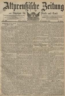 Altpreussische Zeitung, Nr. 220 Sonntag 20 September 1891, 43. Jahrgang