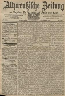 Altpreussische Zeitung, Nr. 224 Freitag 25 September 1891, 43. Jahrgang