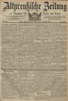 Altpreussische Zeitung, Nr. 230 Freitag 2 Oktober 1891, 43. Jahrgang