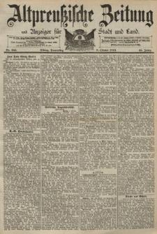 Altpreussische Zeitung, Nr. 235 Donnerstag 8 Oktober 1891, 43. Jahrgang