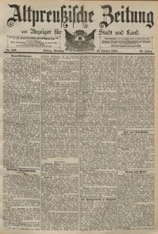 Altpreussische Zeitung, Nr. 239 Dienstag 13 Oktober 1891, 43. Jahrgang