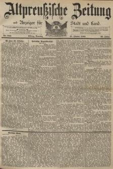 Altpreussische Zeitung, Nr. 244 Sonntag 18 Oktober 1891, 43. Jahrgang