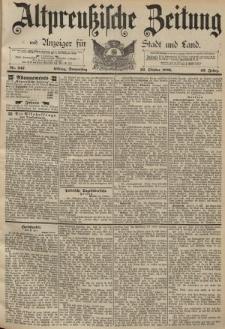 Altpreussische Zeitung, Nr. 247 Donnerstag 22 Oktober 1891, 43. Jahrgang