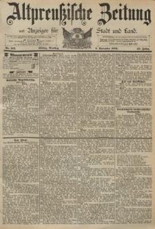 Altpreussische Zeitung, Nr. 257 Dienstag 3 November 1891, 43. Jahrgang