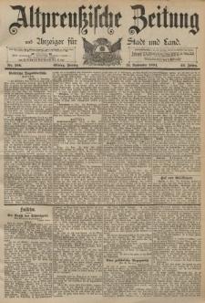 Altpreussische Zeitung, Nr. 266 Freitag 13 November 1891, 43. Jahrgang