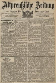 Altpreussische Zeitung, Nr. 274 Sonntag 22 November 1891, 43. Jahrgang