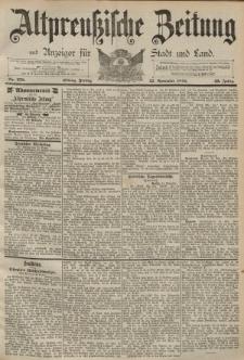 Altpreussische Zeitung, Nr. 278 Freitag 27 November 1891, 43. Jahrgang