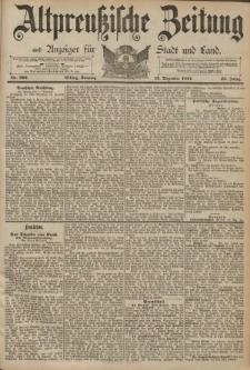 Altpreussische Zeitung, Nr. 292 Sonntag 13 Dezember 1891, 43. Jahrgang