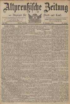 Altpreussische Zeitung, Nr. 294 Mittwoch 16 Dezember 1891, 43. Jahrgang