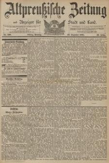 Altpreussische Zeitung, Nr. 298 Sonntag 20 Dezember 1891, 43. Jahrgang