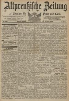 Altpreussische Zeitung, Nr. 300 Mittwoch 23 Dezember 1891, 43. Jahrgang