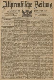Altpreussische Zeitung, Nr. 6 Sonnabend 7 Januar 1893, 45. Jahrgang
