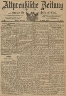 Altpreussische Zeitung, Nr. 16 Donnerstag 19 Januar 1893, 45. Jahrgang